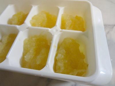リンゴペースト冷凍