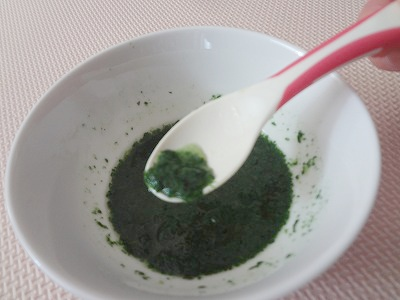 小松菜ペースト小さじ3