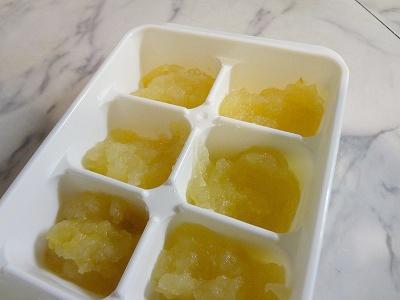 りんごペースト冷凍保存
